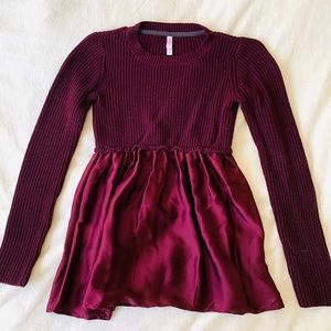 Xhilaration peplum top silk knit sweater shirt M